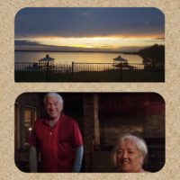 Lake view of host's home; Eve & Frank Dunigan
